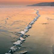 Ice Fracture Art Print