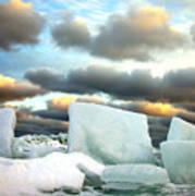 Ice Henge Art Print by David April