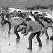 Ice Hockey, 1898 Art Print by Granger