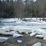 Ice Jam On The Isinglass River Barrington Nh Art Print