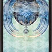 Ice Layered Effect And Framed Art Print