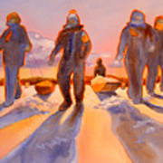 Ice Men Come Home Art Print