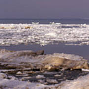 Ice On Lake Huron Art Print