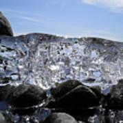 Ice On Rocks 3 Art Print