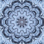 Ice Patterns Snowflake Art Print