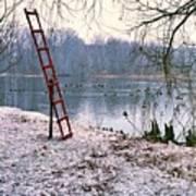 Ice Rescue Ladder  Art Print