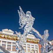 The Annual Ice Sculpting Festival In The Colorado Rockies, The Allure Of A Siren Art Print