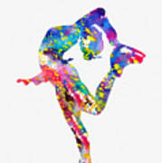 Ice Skater-colorful Art Print