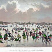 Ice Skating, C1859 Art Print