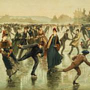 Ice Skating, C1886 Art Print
