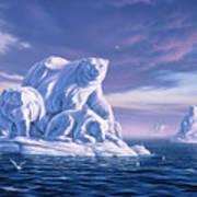 Icebeargs Art Print by Jerry LoFaro