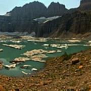 Icebergs Below Grinnell Glacier Art Print