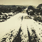 Iced Over Road Art Print