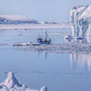 Icefjord In Greenland Art Print