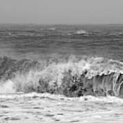 Iceland Black Sand Beach Wave One  Art Print