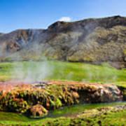 Iceland Landscape Panorama Wonderful Colors Art Print
