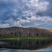 Iceland Mountain Reflections  Art Print