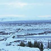 Iceland Mountains Lakes Roads Bridges Iceland 2 2112018 0945 Art Print
