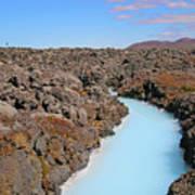 Iceland Tranquil Blue Lagoon  Art Print