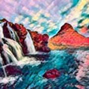 Iceland Waterfalls Art Print
