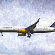 Icelandair Boeing 757 Art Art Print