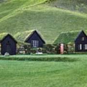 Icelandic Turf Homes Art Print