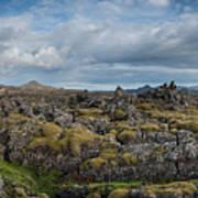 Icelands Mossy Volcanic Rock Art Print