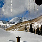 Icicles In East Vail Art Print