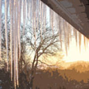 Icicles One Art Print