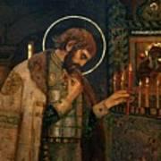 Icon Of Reverend Prince Alexander Nevsky. Saint Petersburg Art Print