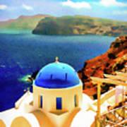 Iconic Anastaseos Oia Santorini Greece Art Print