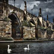 Iconic Bridge In Prague Art Print