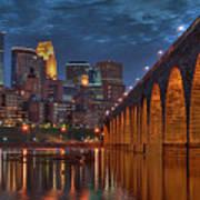 Iconic Minneapolis Stone Arch Bridge Art Print