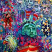 Icons Of Freedom Art Print