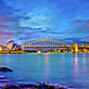 Icons Of Sydney Harbour Art Print