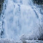 Icy Falls Art Print