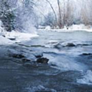 Icy Flow Art Print