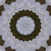 Icy Lace Kaleidoscope Art Print