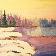 Icy Lake Art Print