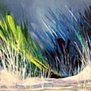 Icy Pond Art Print