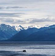 Icy Strait Fishing Art Print