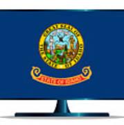 Idaho Flag Tv Art Print