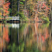 Idyllic Autumn Reflections Art Print