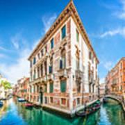 Idyllic Canal In Venice Art Print