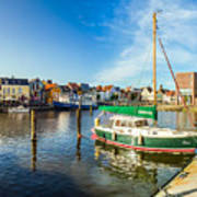 Idyllic North Sea Town Of Husum Art Print