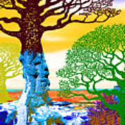 If A Tree Falls In Sicily Color 2 Art Print