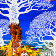 If A Tree Falls In Sicily White Art Print