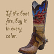 If The Boot Fits 2 Art Print