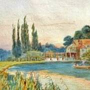 Iffley Mill On The River Thames Art Print