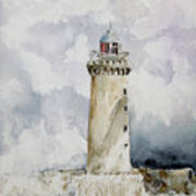 ighthouse Kereon Ouessant island Britain Art Print